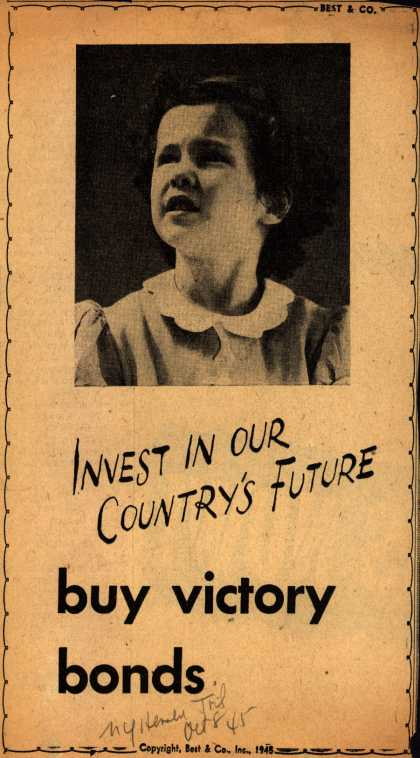Best & Co.'s Victory Bonds – Invest In Our Country's Future (1945)
