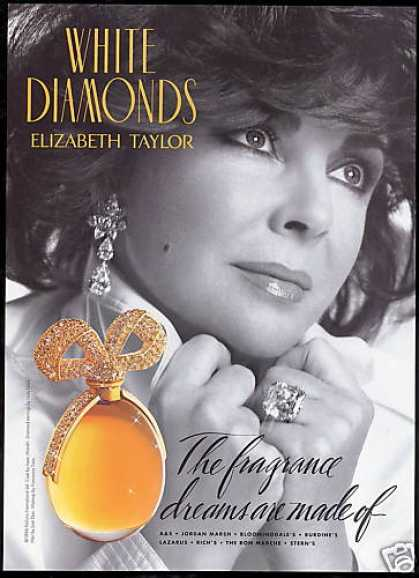 White Diamonds Perfume Pretty Elizabeth Taylor (1994)