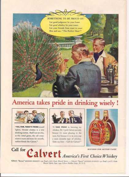 Calvert First Choice Whiskey (1939)