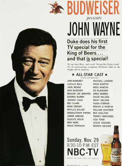 Budweiser on NBC – John Wayne