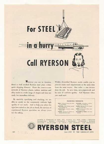 Ryerson Steel in a Hurry Quick Shipping (1950)