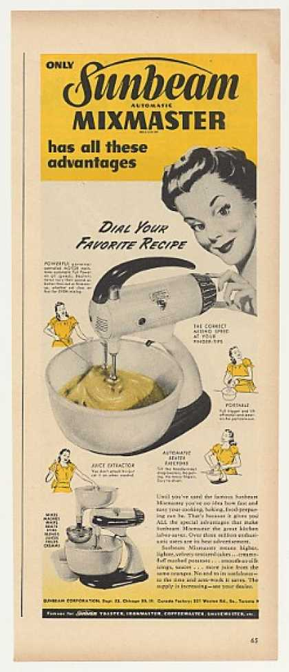 Sunbeam Mixmaster Automatic Mixer (1947)