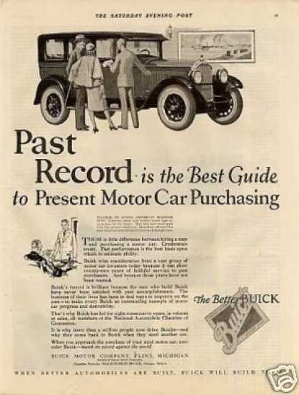 "Buick Car Ad ""Past Record Is... (1926)"