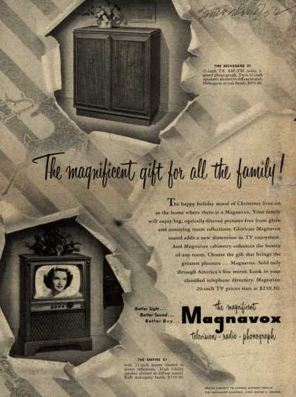 Magnavox Company's Television-Radio-Phonograph combination – The magnificent gift for all the family (1952)