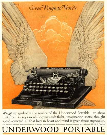 Underwood Portable Typewriters Equipment, USA (1922)