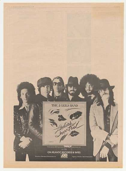 J Geils Band Ladies Invited Photo (1973)