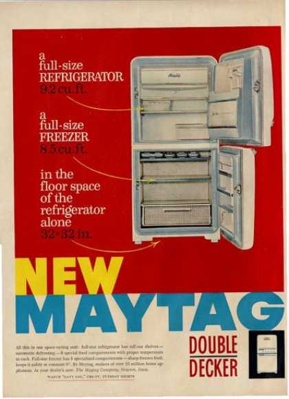 Maytag Kitchen Refrigerator Freezer Ad T (1956)