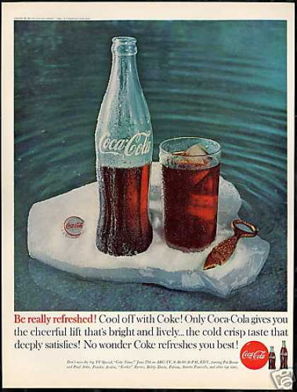 Coke Bottle Glass Iceberg Cool Off Coca Cola (1960)
