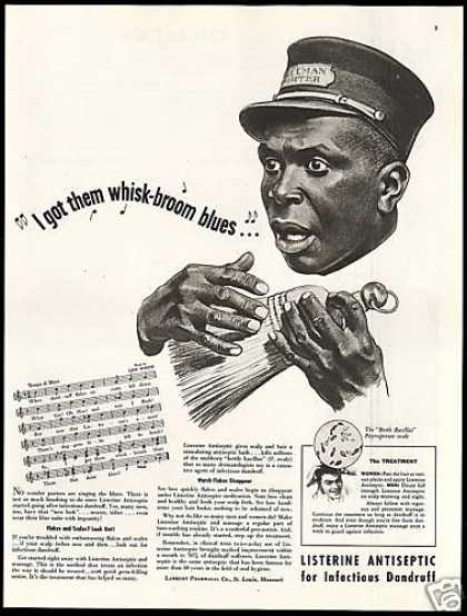 Listerine Treats Dandruff Pullman Train Porter (1948)