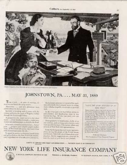 "New York Life Insurance Ad ""Johnstown, Pa... (1934)"