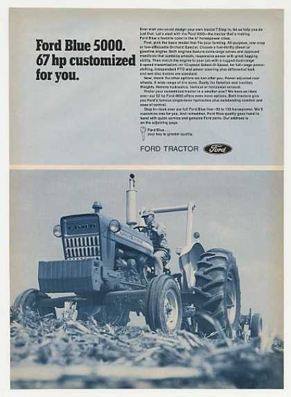 Ford Blue 5000 Tractor Photo (1972)