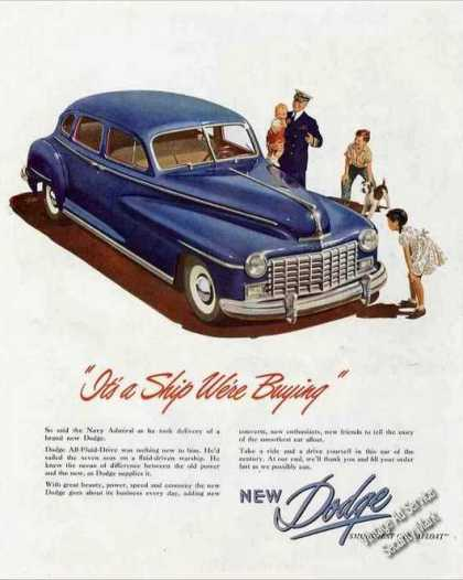 "Dodge ""It's a Ship We're Buying"" Car (1947)"