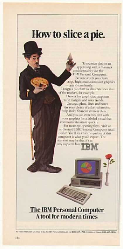 IBM Personal Computer Slice a Pie Little Tramp (1983)