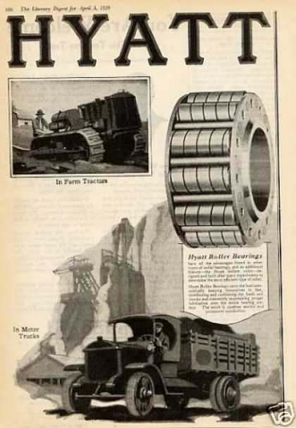 Hyatt Roller Bearings Ad 2 Page (1920)