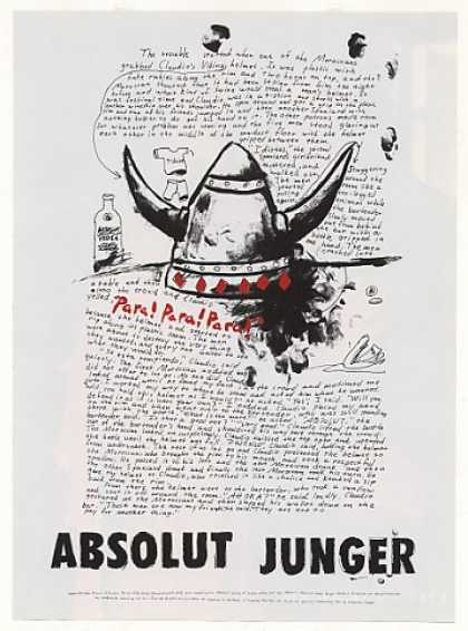 Absolut Junger Viking Helmet Story Vodka (2001)