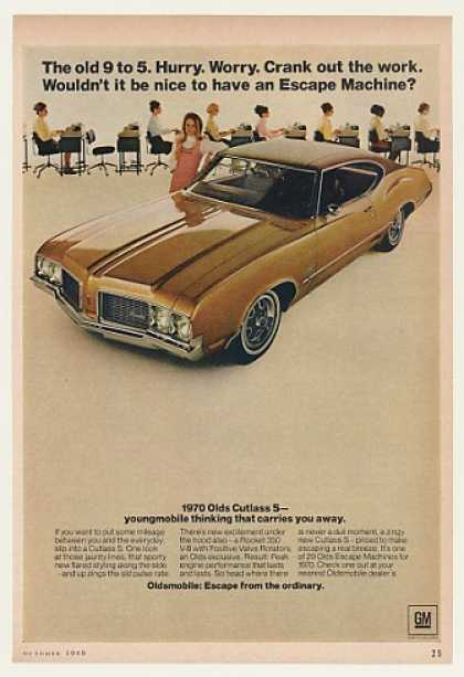Olds Oldsmobile Cutlass S Escape Secretaries (1970)