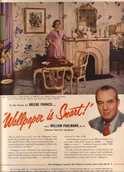 The Wallpaper Council – Arlene Francis (1954)