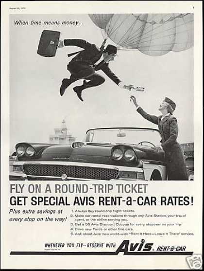 Avis Rent A Car Ford Fairlane Parachute (1958)