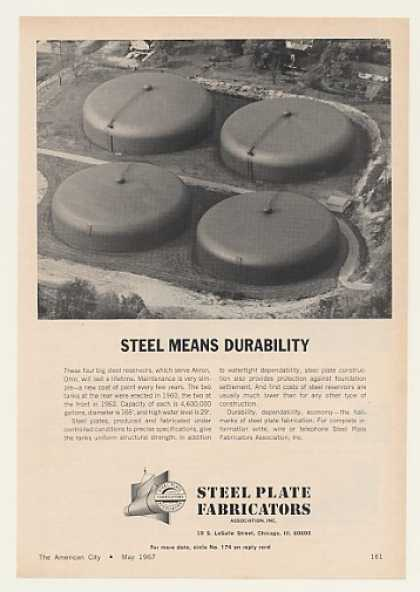 Akron Ohio Reservoirs Steel Plate Fabricators (1967)