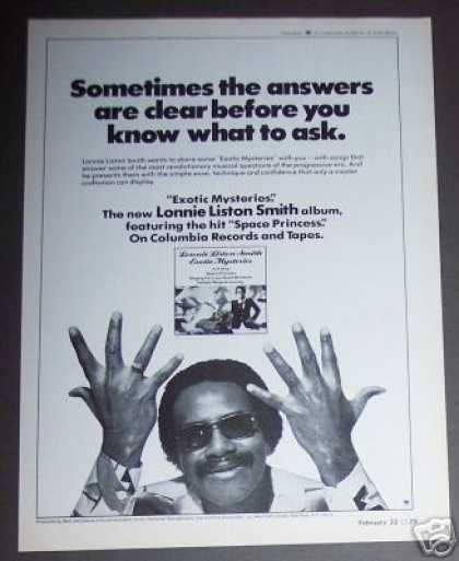 Lonnie Liston Smith Exotic Mysteries Record Promo (1979)
