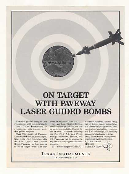 Texas Instruments TI Paveway Laser Guided Bomb (1982)