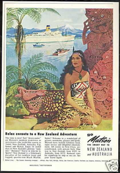 Matson Cruise Line New Zealand Australia (1958)
