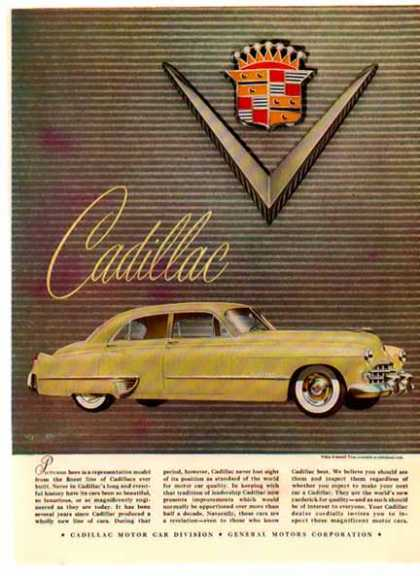 Cadillac Car – Lime with White Wall Tires (1949)