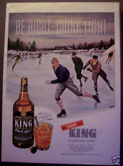 King Black Label Whisky Winter Ice Skating (1945)