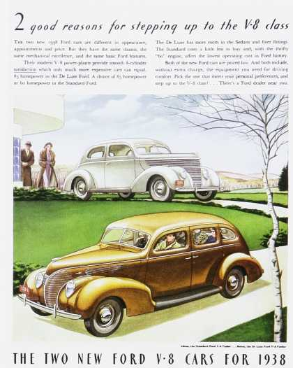 Ford V8 Cars for 1938