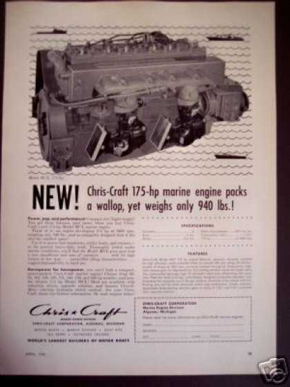 Chris Craft Marine Boat Engine 175hp (1956)