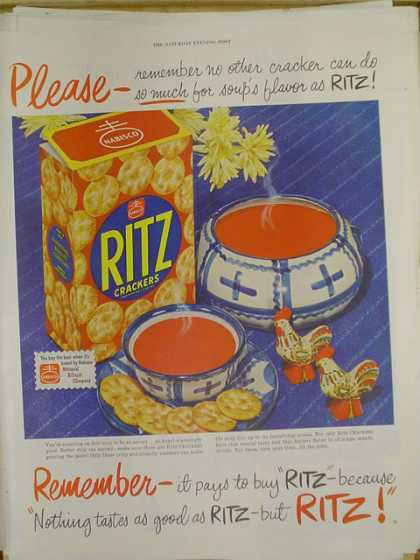 Ritz Crackers. It pays to buy Ritz (1952)