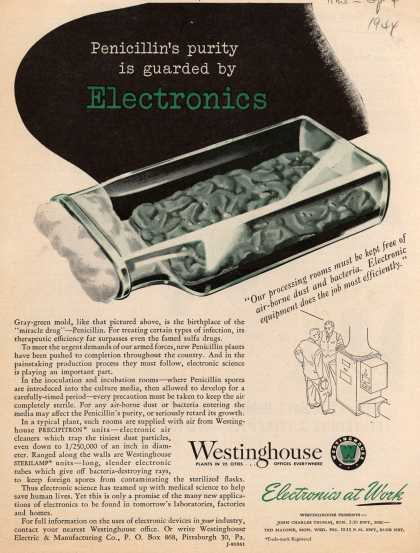 Westinghouse Electric & Manufacturing Company's Various – Penicillin's purity is guarded by Electronics (1944)