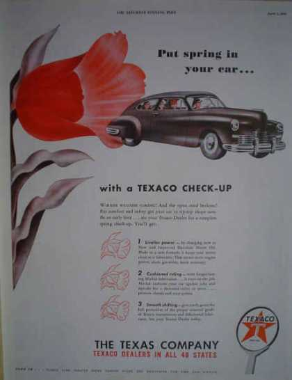 Texaco Oil Gas Stations The Texas company Checkup (1947)