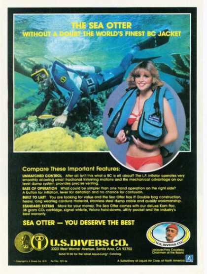 Us Divers Co Sea Otter Bc Scuba Jacket (1980)