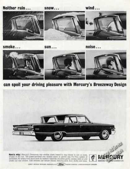 Mercury With Breezeway Rear Window Car (1963)