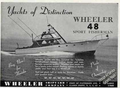 Wheeler 48 Sport Fisherman Distinctive Yachts (1951)