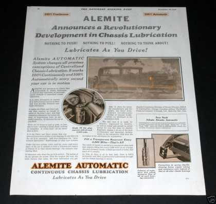 Alemite Chassis Lube (1929)