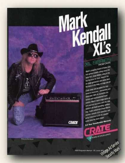 Mark Kendall Photo Crate Amps & Speakers Promo (1989)