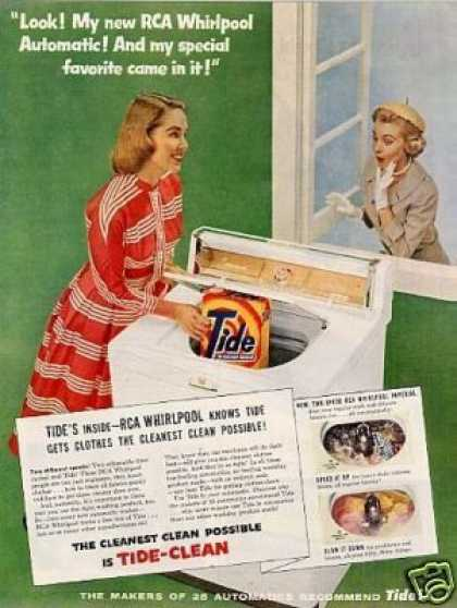 Rca Whirlpool Washer Ad Tide Soap Detergent (1956)