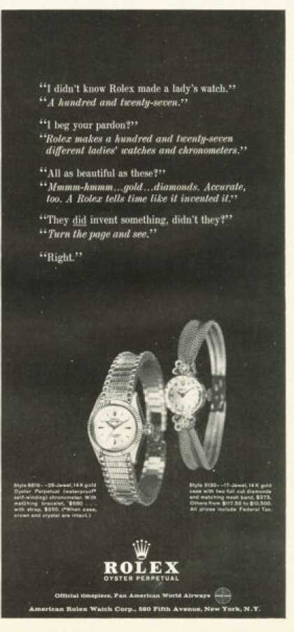 Rolex Perpetual Oyster His & Her Watch (1961)