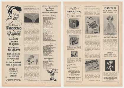 Walt Disney Pinocchio Toys Products 5-Pg Trade (1961)