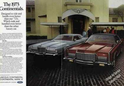 Lincoln Continentals Nice 2 Page Photo (1973)