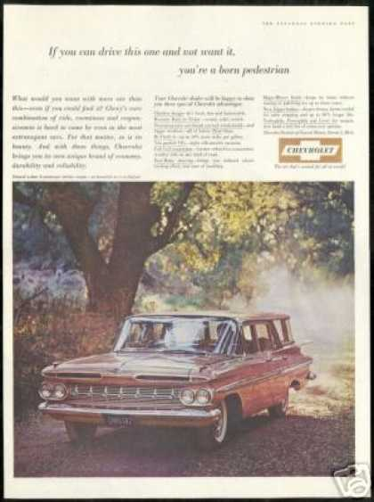 Chevrolet Tan 4 Door Nomad Station Wagon Photo (1959)