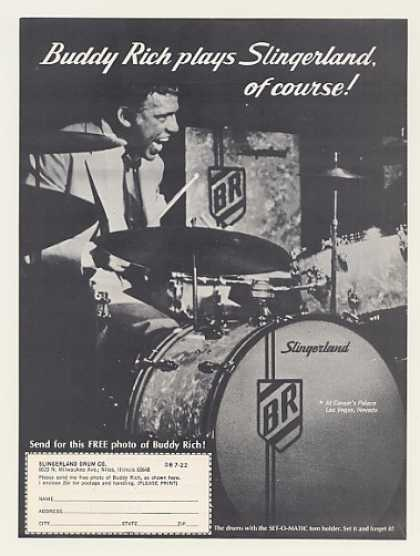 Buddy Rich Slingerland Drums Photo (1971)