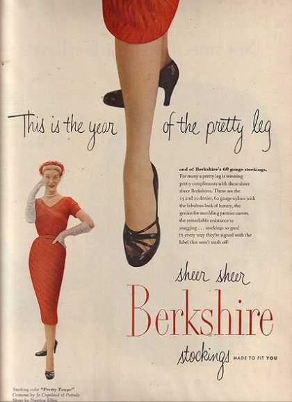 Berkshire's sheer sheer stockings for ladies (1951)