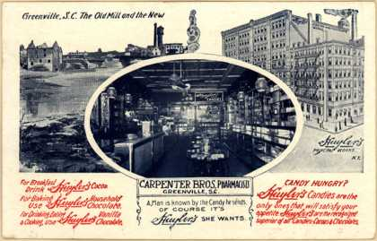 Carpenter Bros. Pharmacist's Huyler's Candies – The Old Mill and the New