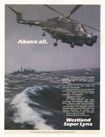 Westland Super Lynx Helicopter Photo (1987)