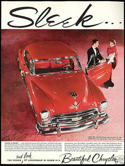 Red Chrysler New Yorker Newport Deluxe (1954)
