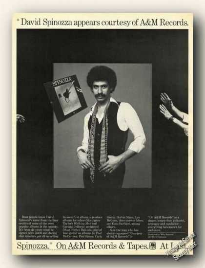 David Spinozza Photo Collectible Album Promo (1978)