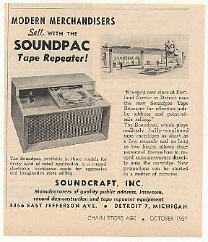 Soundcraft Soundpac Tape Repeater Kresge Store (1957)